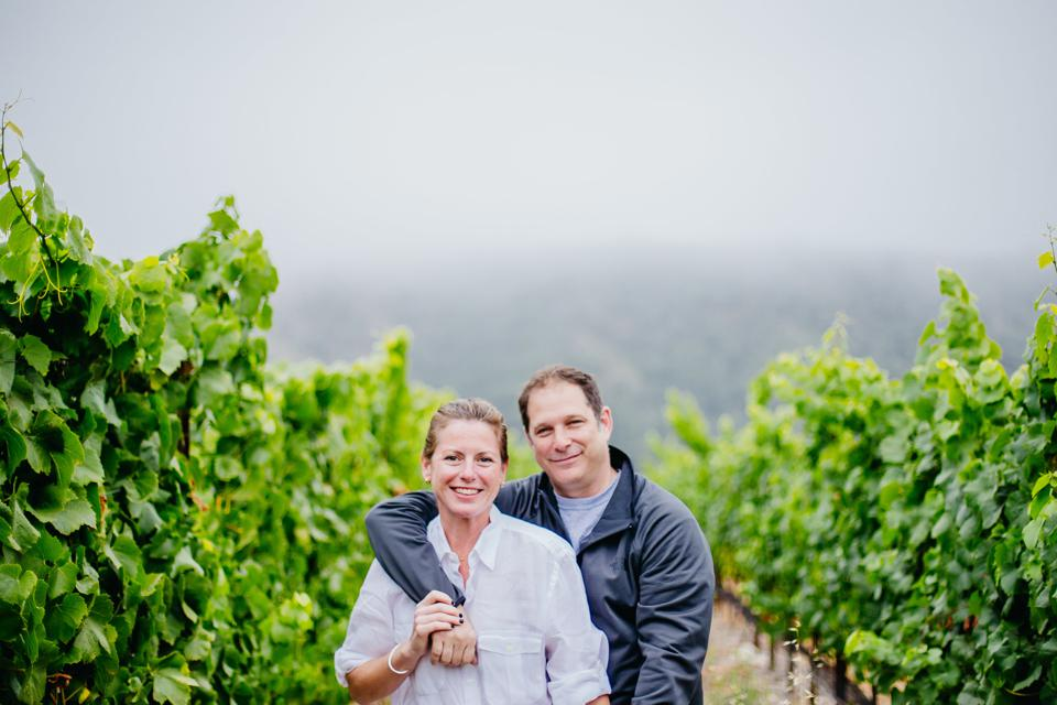 Rachel and Kurt in the vineyard