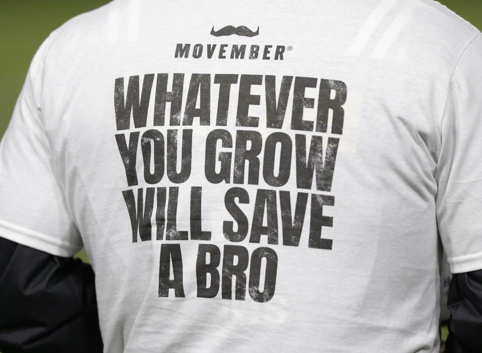 Movember is a movement to raise awareness on men's health - every November.
