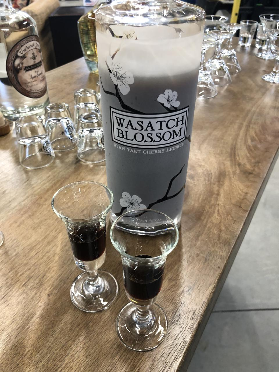 Wasatch Blossom Utah Tart Cherry Liqueur from New World Distillery