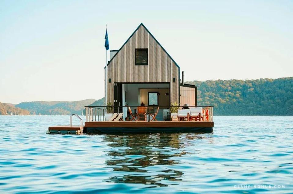 A floating GlampingHub villa near Sydney