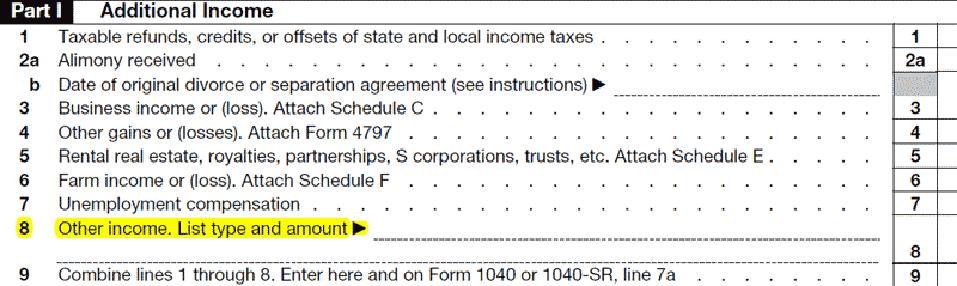 schedule 1, line 8