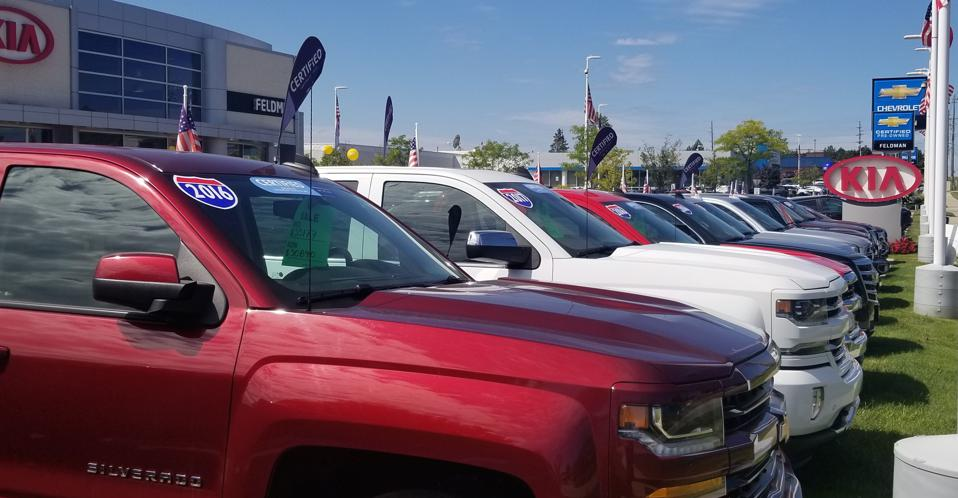 Late model pickup trucks are attracting those who can't afford new vehicles.
