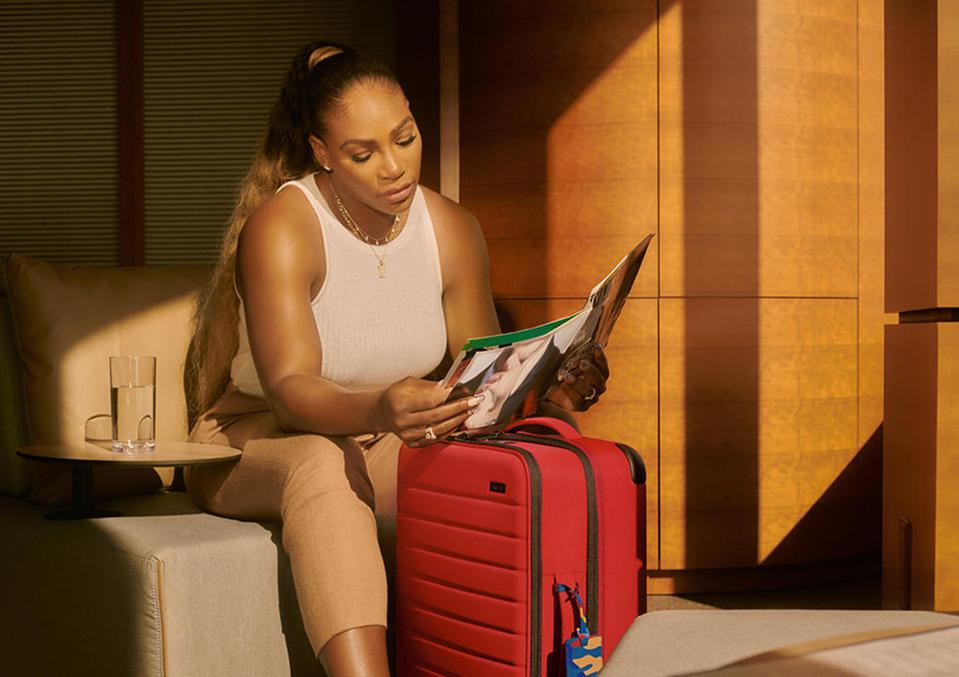 Serena Williams has partnered with Away on a new luggage collection that wins travel: game set and match.