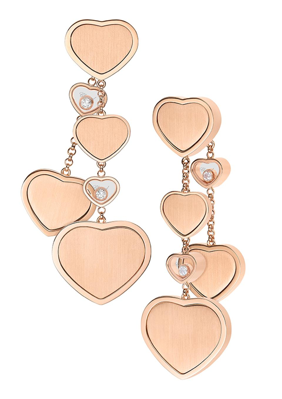 Earrings from the Chopard Happy Hearts Golden Hearts collection.
