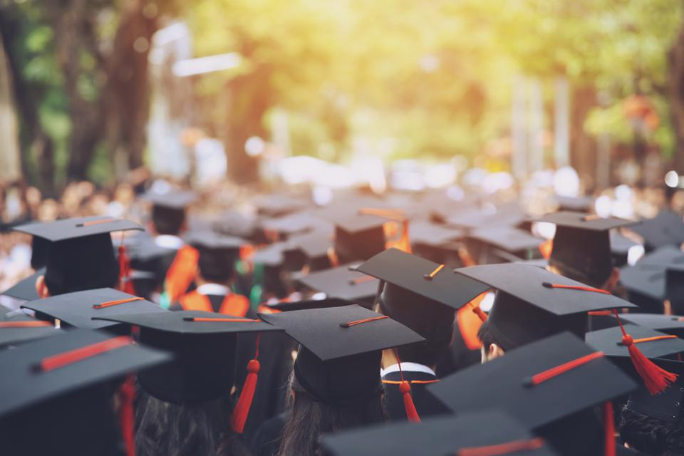 Group of Graduates during commencement. Concept education congratulation in University. Graduation Ceremony ,Congratulated the graduates in University during commencement.
