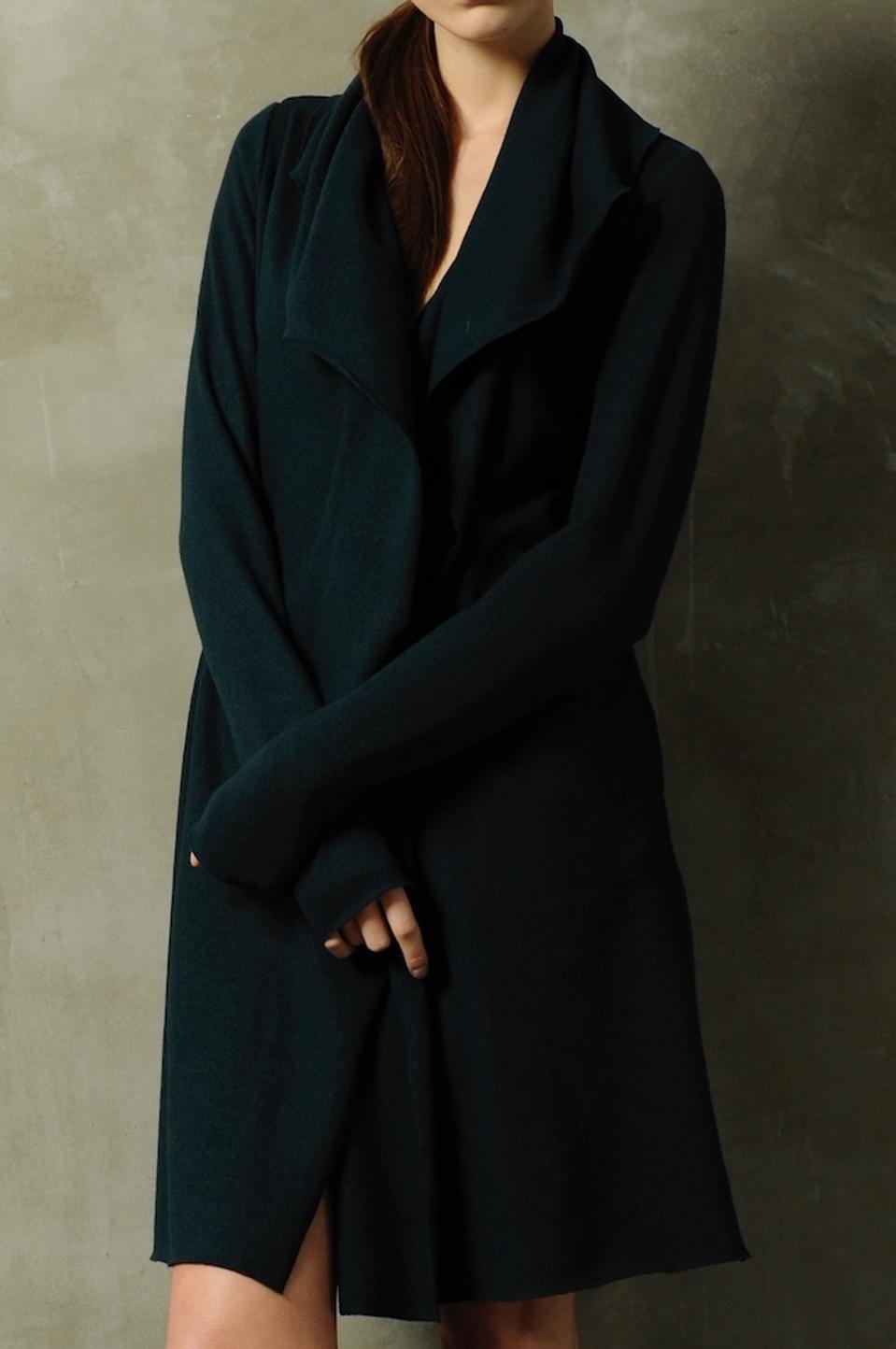 A merino wool coat by Katharina Hovman