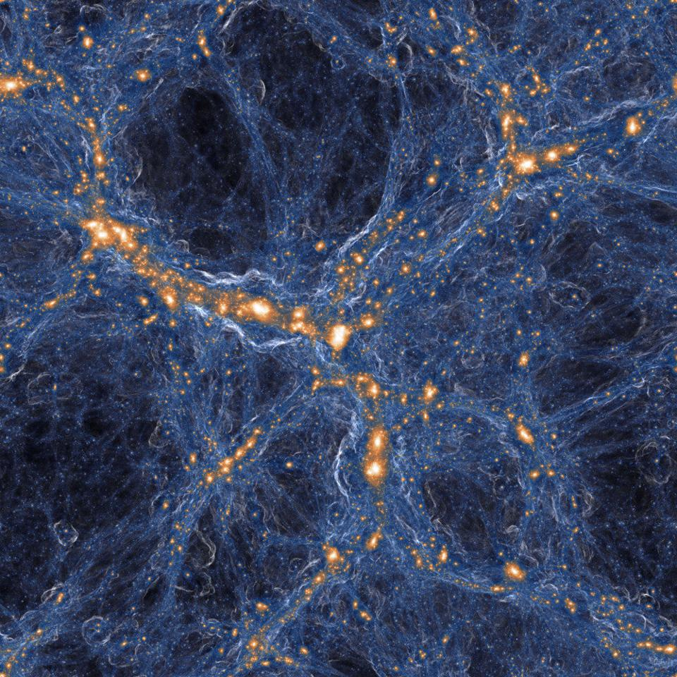 Visualization of the Laniakea supercluster, which represents more than 100,000 galaxies.