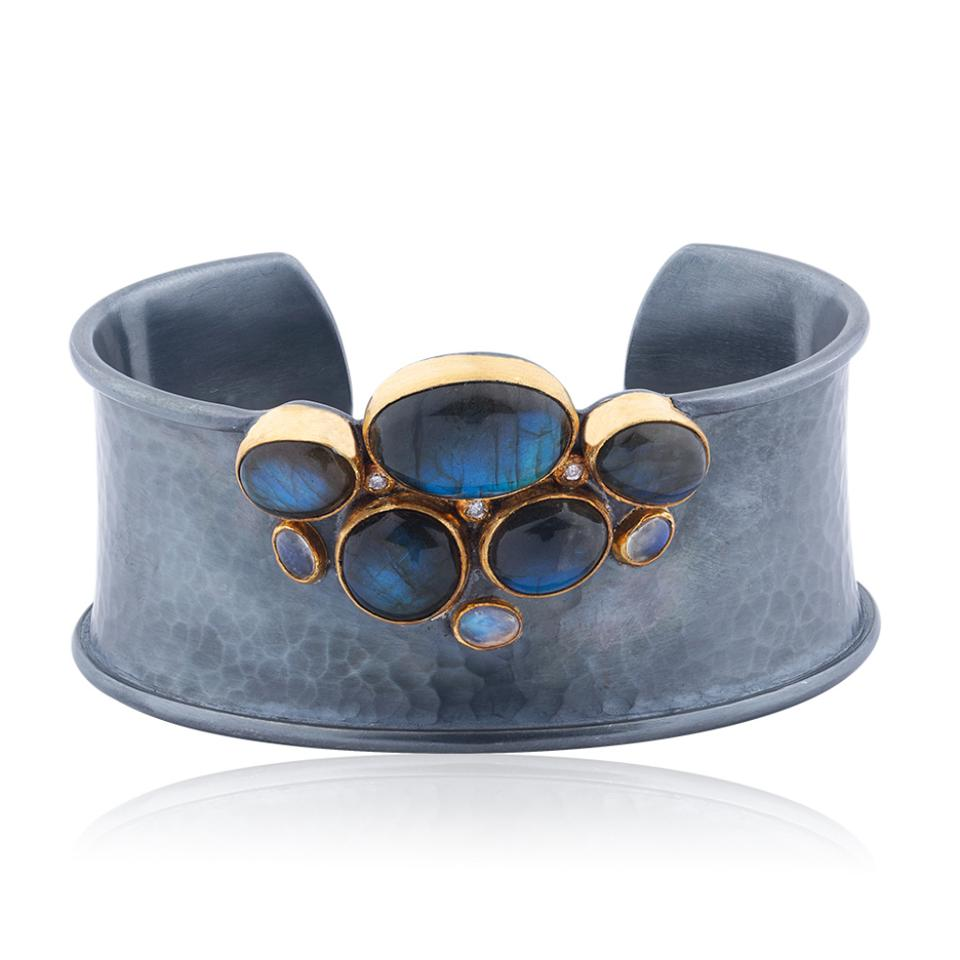 Lika Behar moonstone and labradorite cuff bracelet