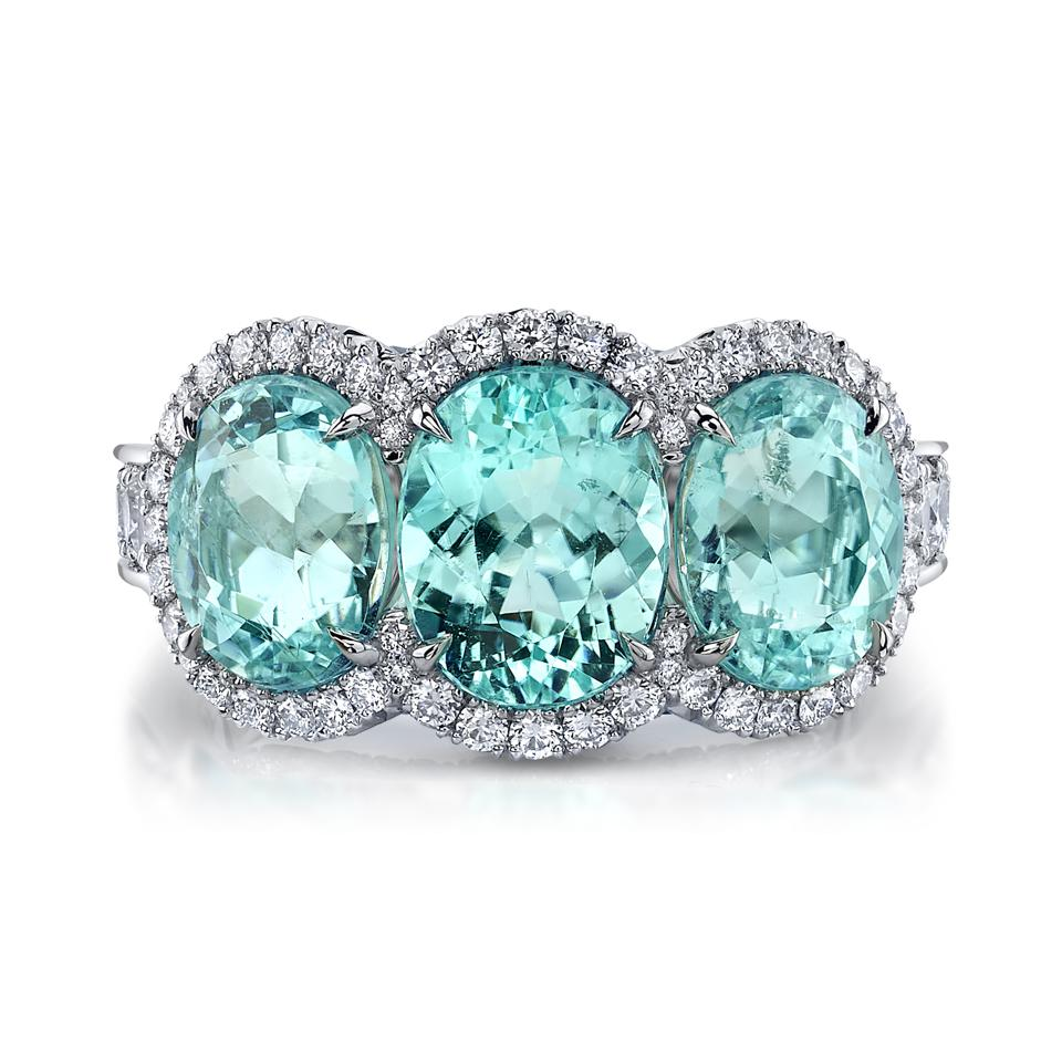 OMI Privé ring paraiba tourmaline natural diamonds
