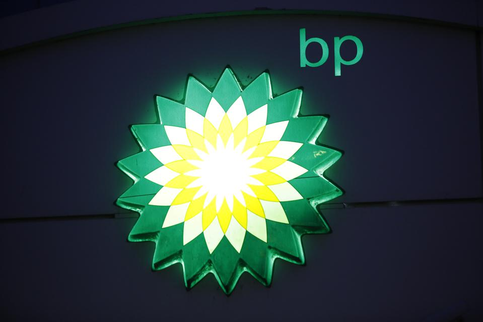 BP logo at a gas station.
