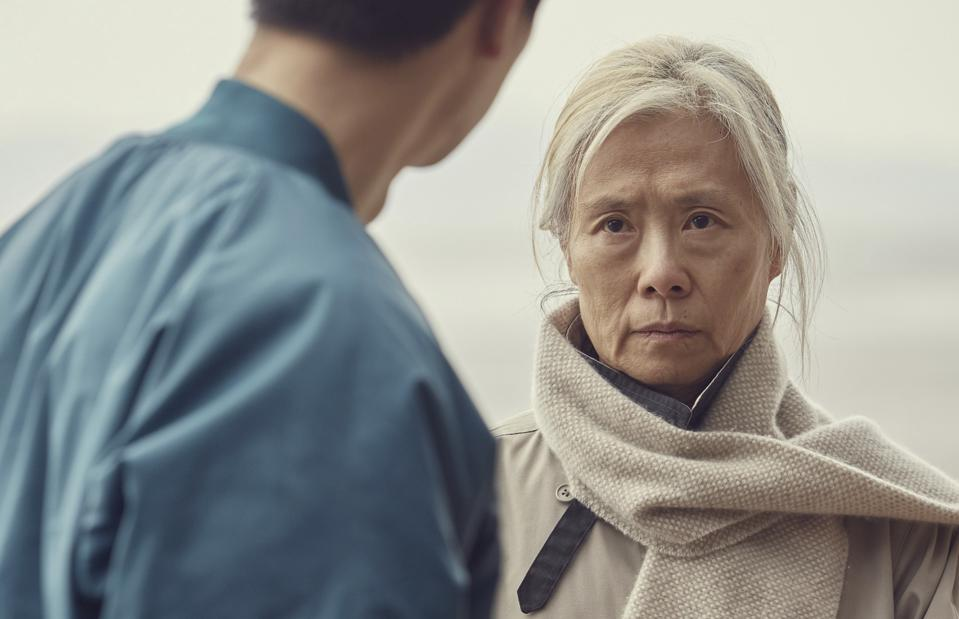 An elderly woman facing her sexual abuser in the film 'An Old Lady.'