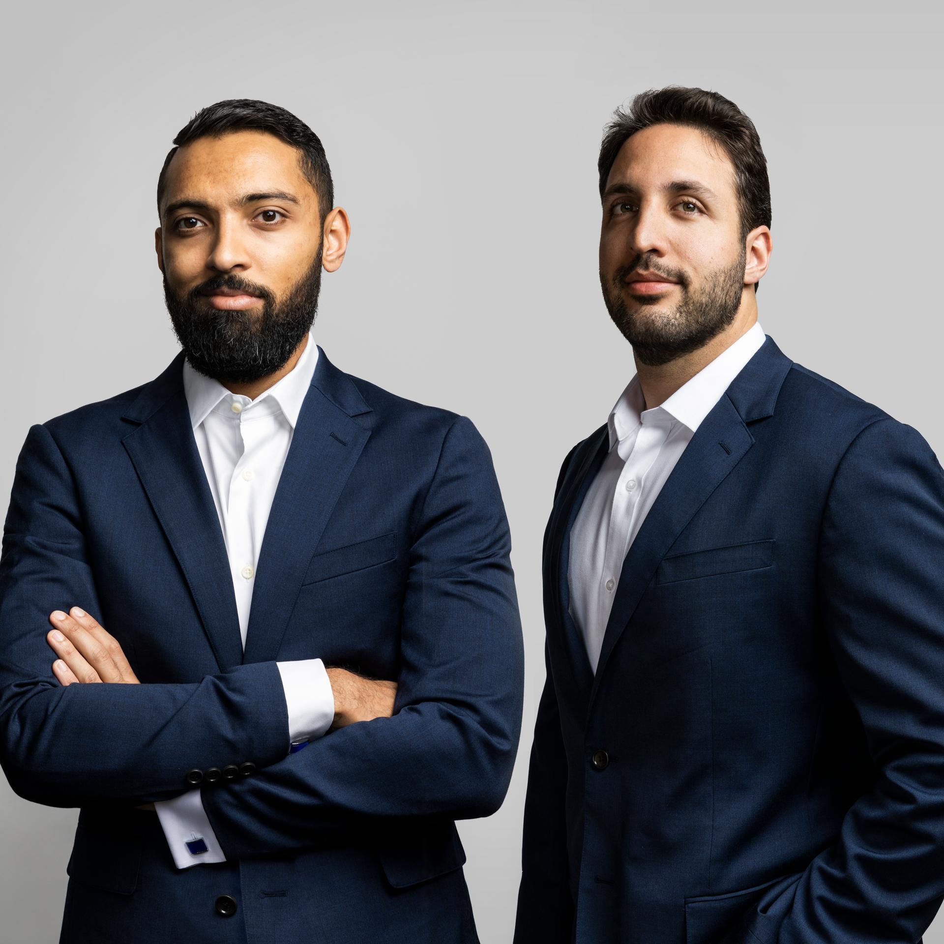 Multicoin Capital's founders and best friends Tushar Jain (left) and Kyle Samani.