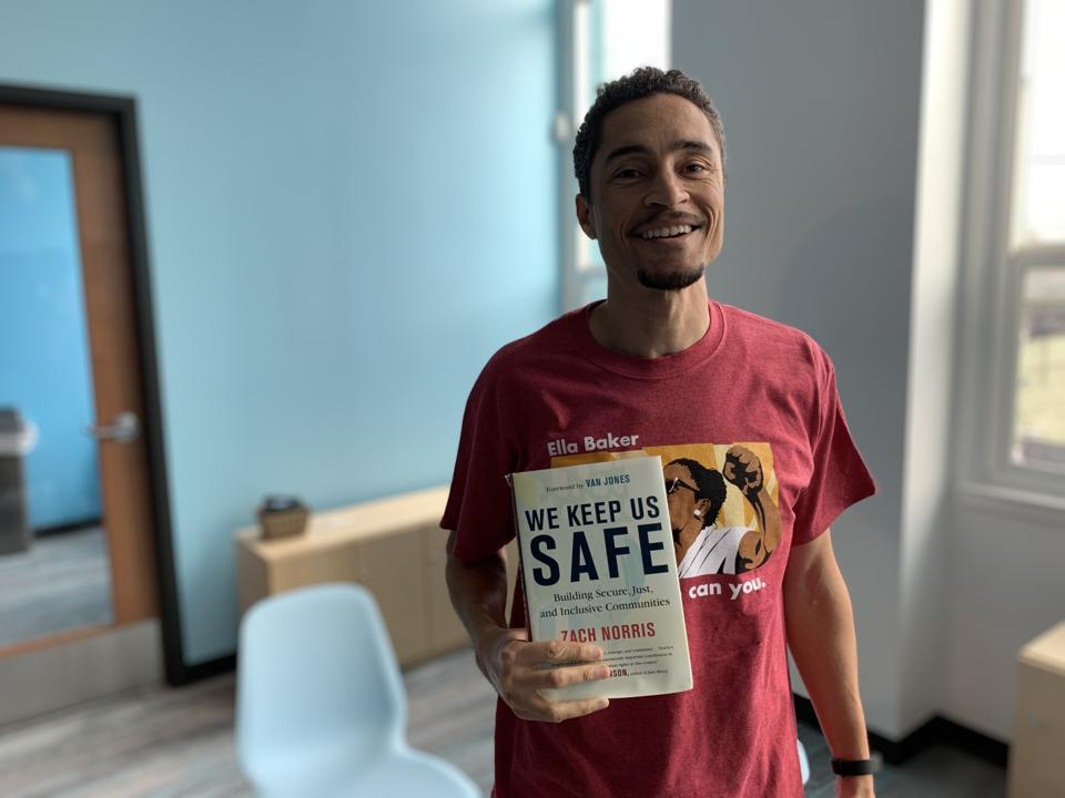 Zach Norris and his new book, We Keep Us Safe.