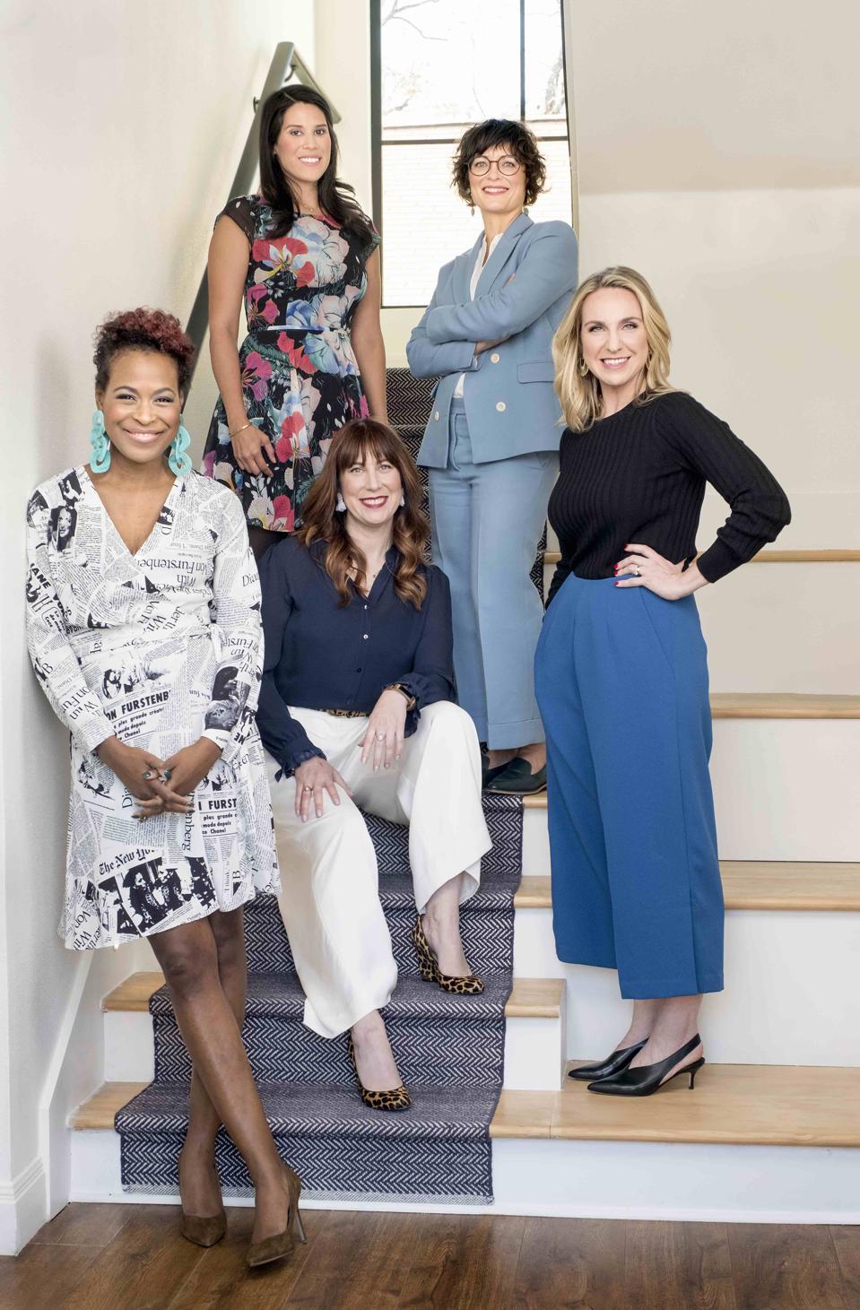 Founding Members of The 19th. Clockwise from bottom left, Errin Haines, Amanda Zamora, Andrea Valdez, Emily Ramshaw, and Johanna Derlega (seated)