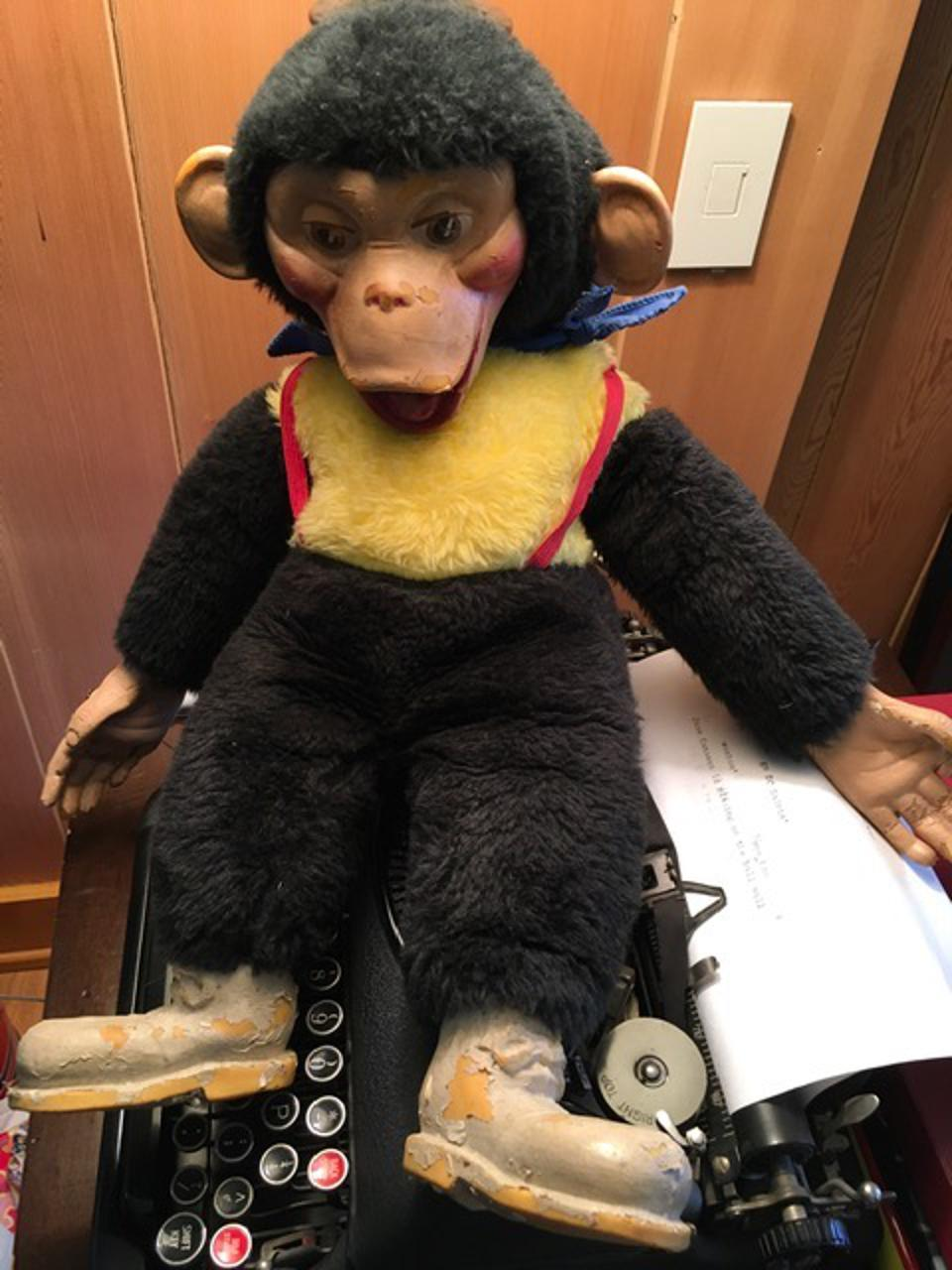 Mr. Funnybones sitting in the office of ″BFL″ producer Mike Tollin.