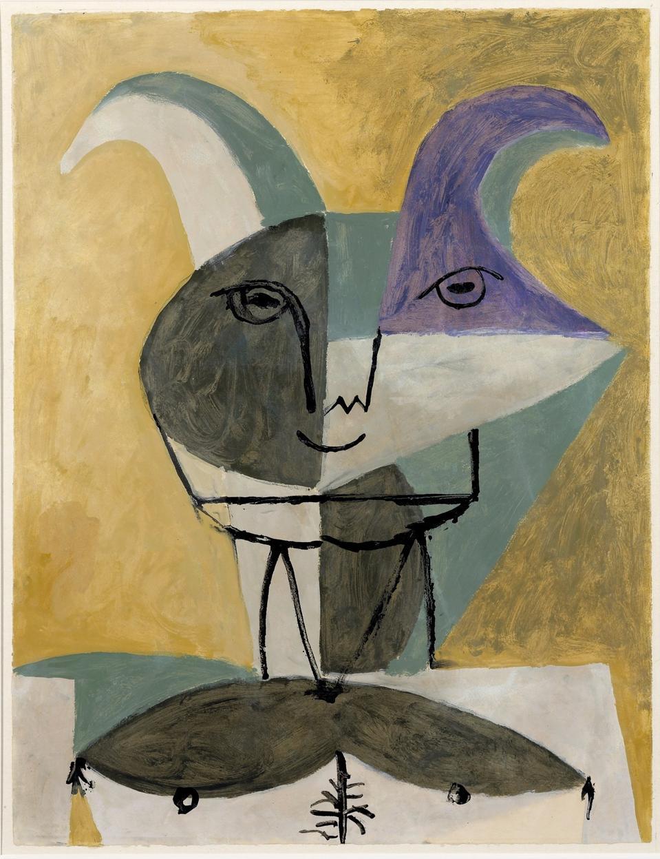 Pablo Picasso, 'Buste de faune,' 6 Septembre 1946. MPA 1946.2.4