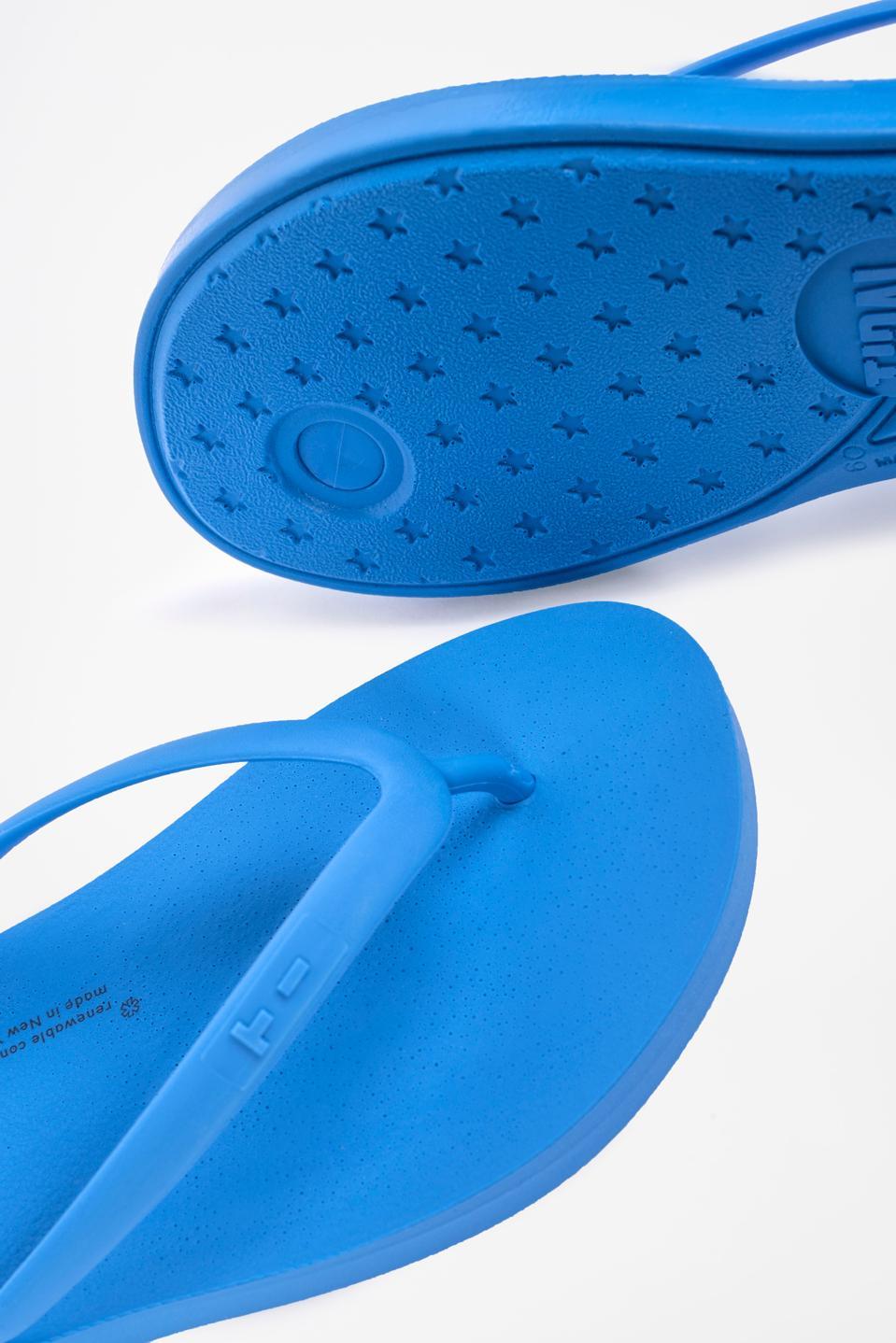New GROW flip flops from TIDAL New York in Yves Blue.