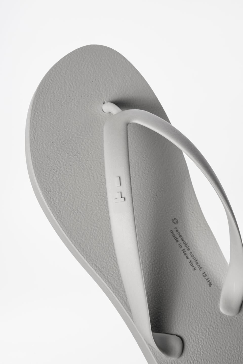 New GROW flip flops from TIDAL New York in Concrete.