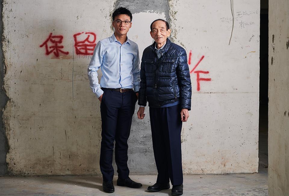 Stan Tang Yiu-shing with his father, Tang Shing-bor.