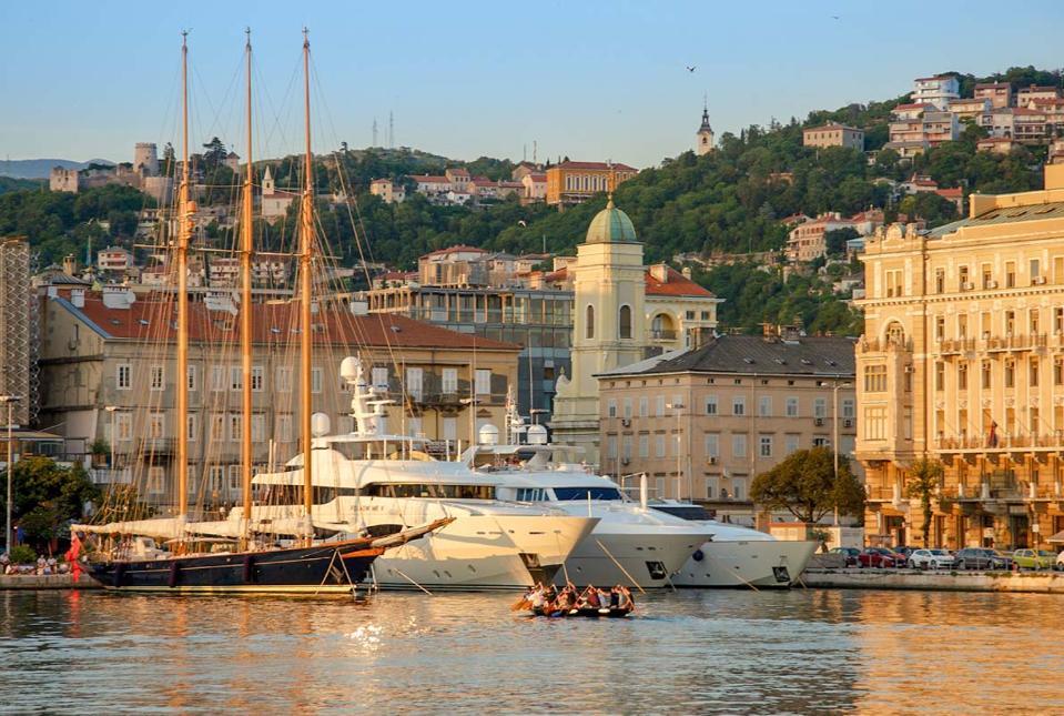 A view of beautiful Rjeka in Croatia