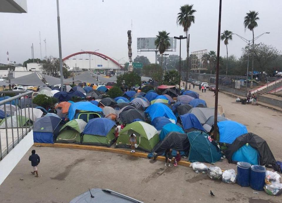 UNICEF is providing urgently needed support for migrant children and families stranded in tent encampments in Matamoros, Mexico, just over the red-arched bridge from Brownsville, TX.