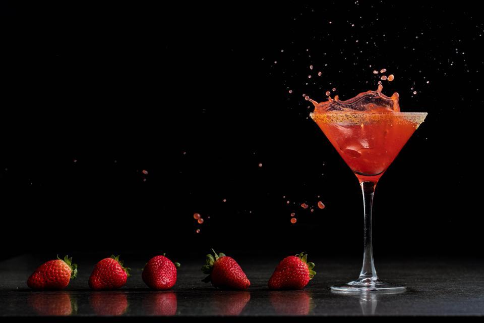 Strawberry Cobbler Martini at STK Steakhouse.