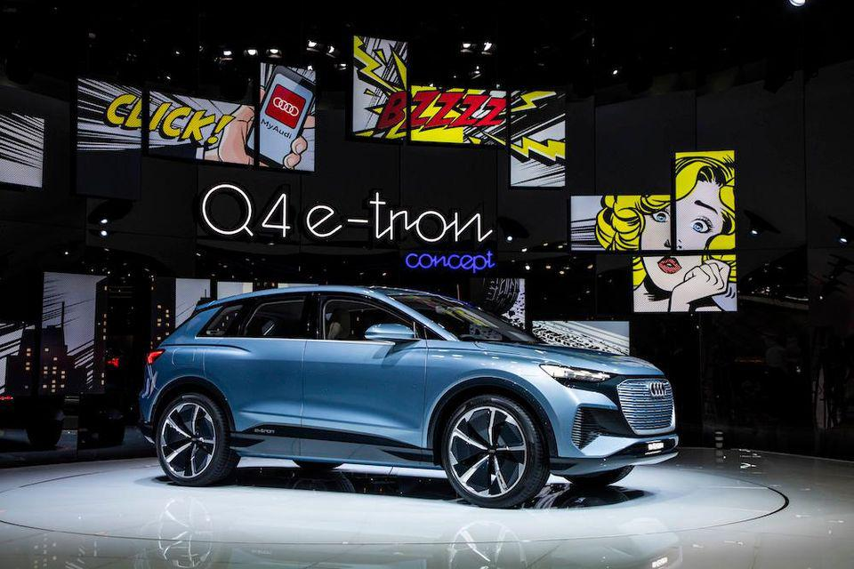 This is the Audi Q4 e-tron crossover coupé