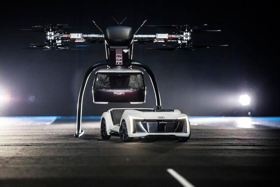 Audi flying Pop.Up Next car looks to the future of transport