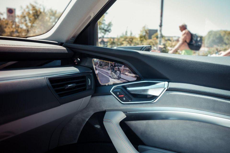 Audi e-tron SUV previews a pioneering digital mirror
