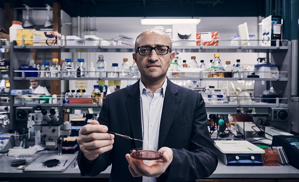 "The Gut-Brain Connection Caltech professor Sarkis Mazmanian in one of his Pasadena, California, labs. In a trailblazing study,  he transferred gut bacteria from humans with autism into sterile mice who then exhibited autism-like  behaviors. ""The most rigorous clinicians and investors,"" he says, ""realize this is a long journey we're on."""