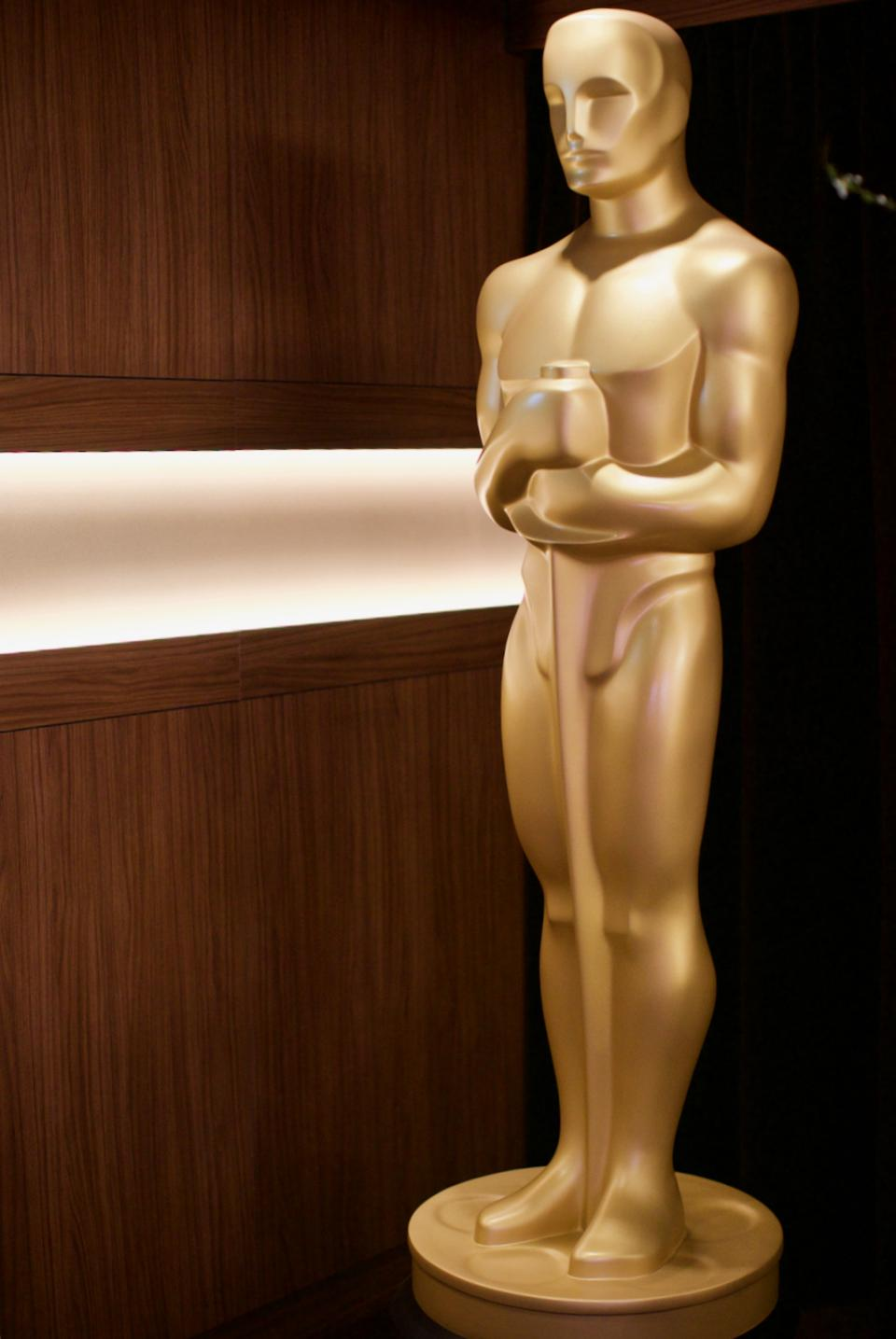 Oscar statue backstage at the Dolby Theater