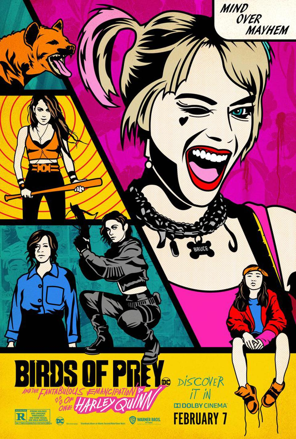 Official poster for Warner's ″Birds of Prey″