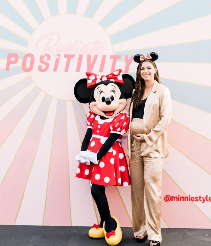 Minnie Mouse and Alex Morgan at Create and Cultivate and Disney's Polka Dot Summit