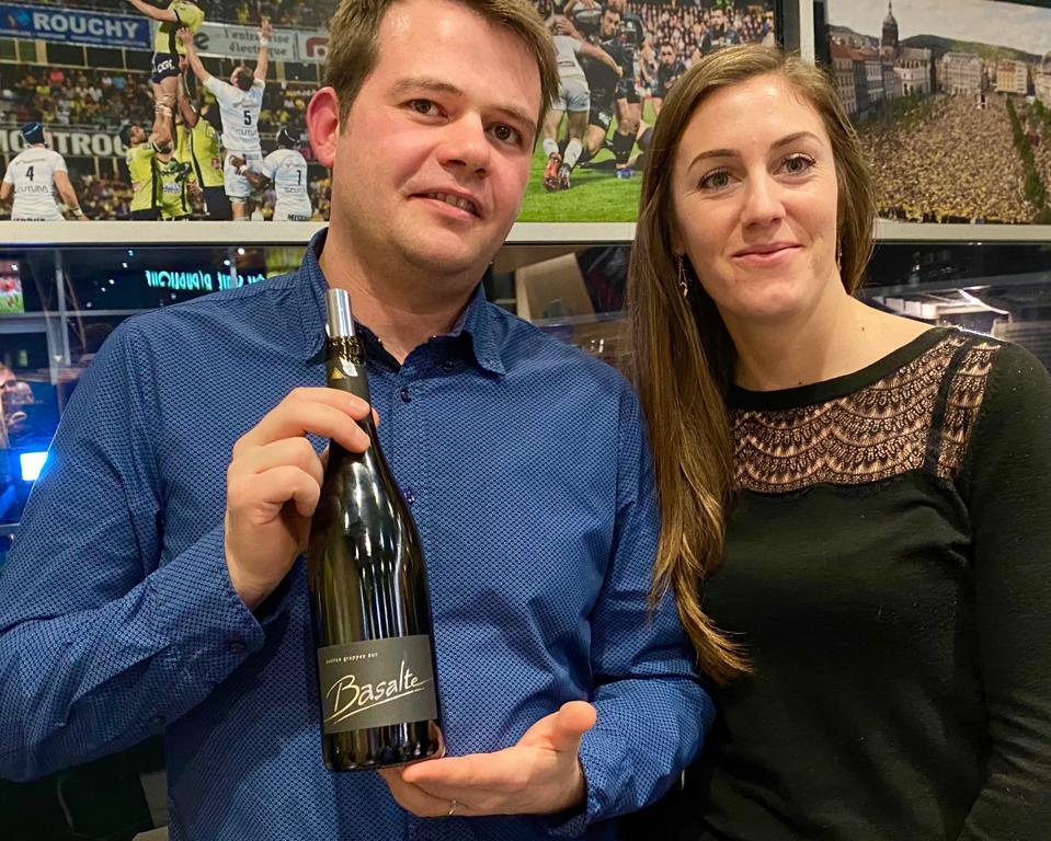 Julien Maurs and Elinor Roux of Desprat Saint-Verny wines