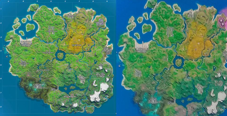Fortnite Chapter 2 Ends In Two Weeks With No Hints About That Leaked Map Update There's only one place of interest change big enough to be named on the map, although several other locations have. fortnite chapter 2 ends in two weeks