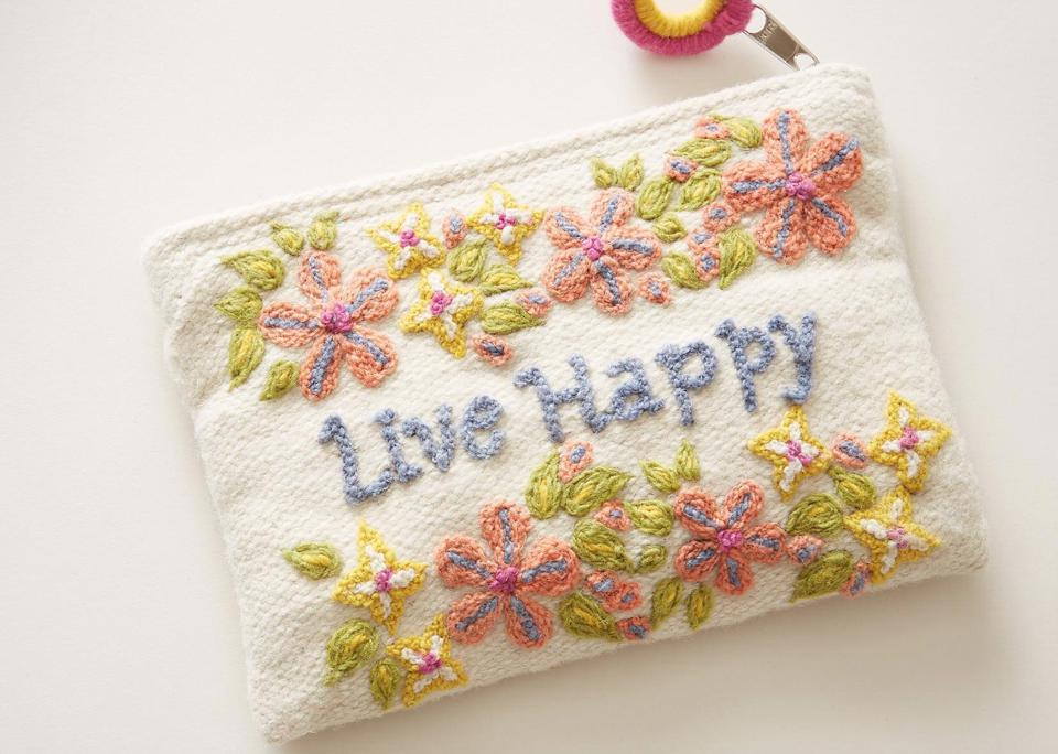 Live Happy Carry It Well Pouch from Sundance