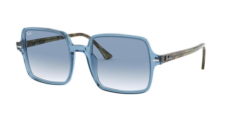 Light blue rectangular eyewear from RAYBAN