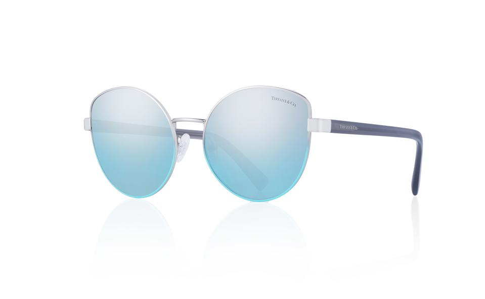 Blue Mirrored Cats Eye Frames by TIFFANY & CO.