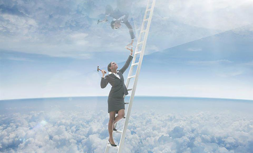 Don't shatter the glass ceiling, only to fall down the glass cliff.