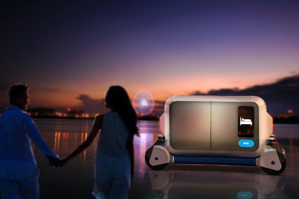 Pix self-moving hotel can be mobile and serve anywhere
