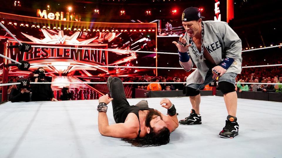 WWE WrestleMania 35: John Cena beats down Elias