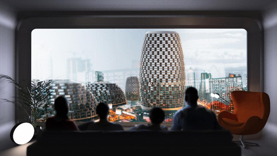 A view of PIX City, the flexi-city of the future
