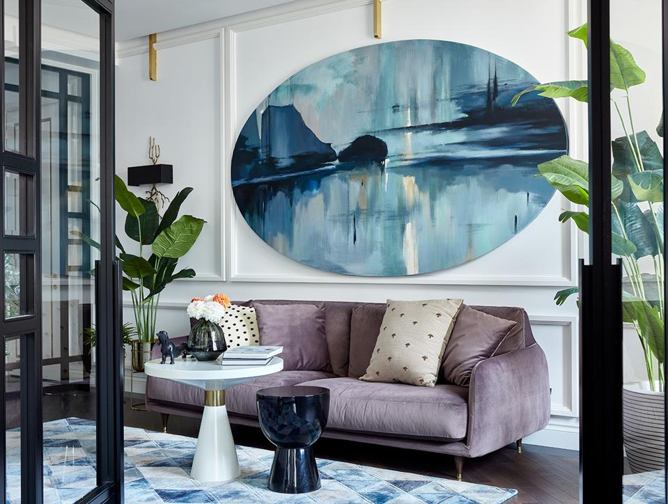 Interior design and art work by Assel Baimakhan