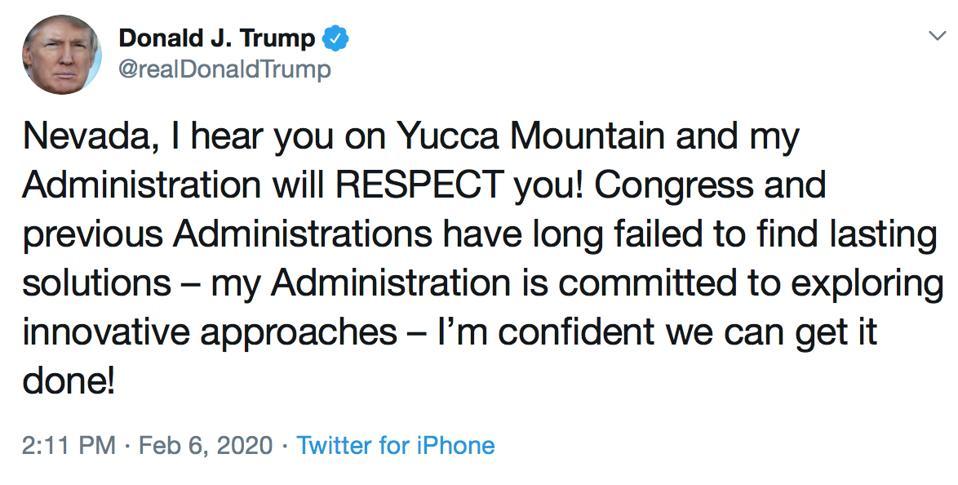 Trump YMP tweet