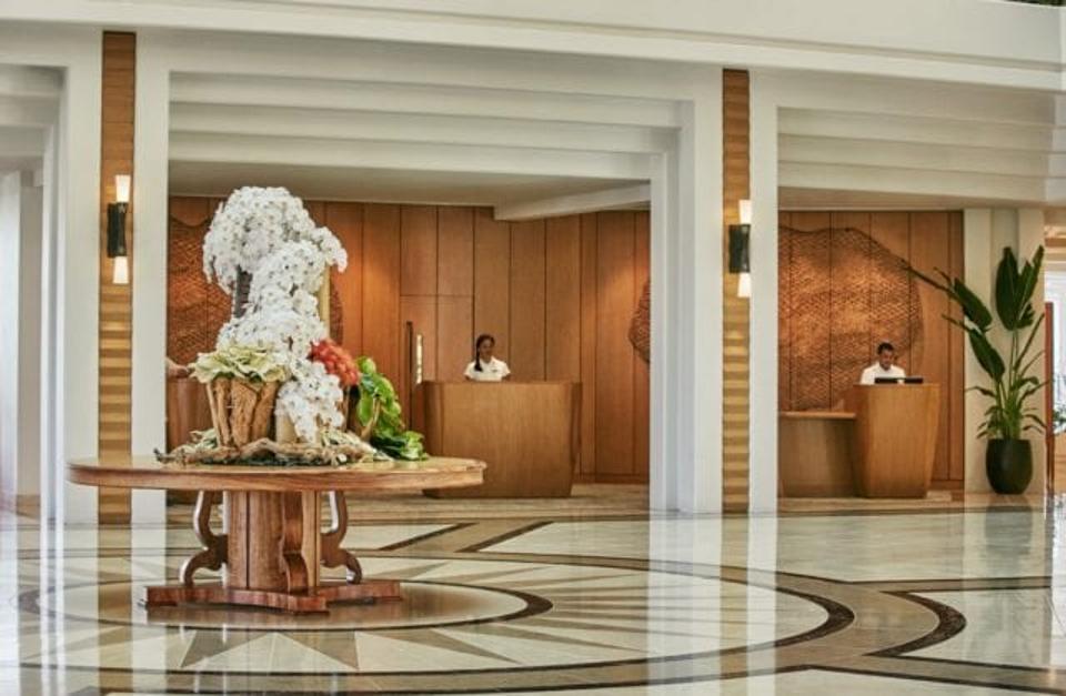 The lobby of four Seasons Resort Oahu at Ko Olina.