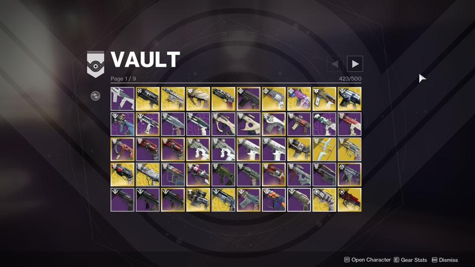 'Destiny 2' Is Running Into Massive Vault Space Issues That Are Somehow Worse Than Usual