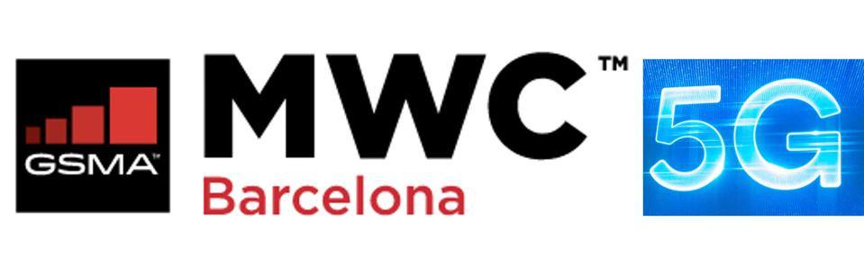 The MWC logo and 5G logo