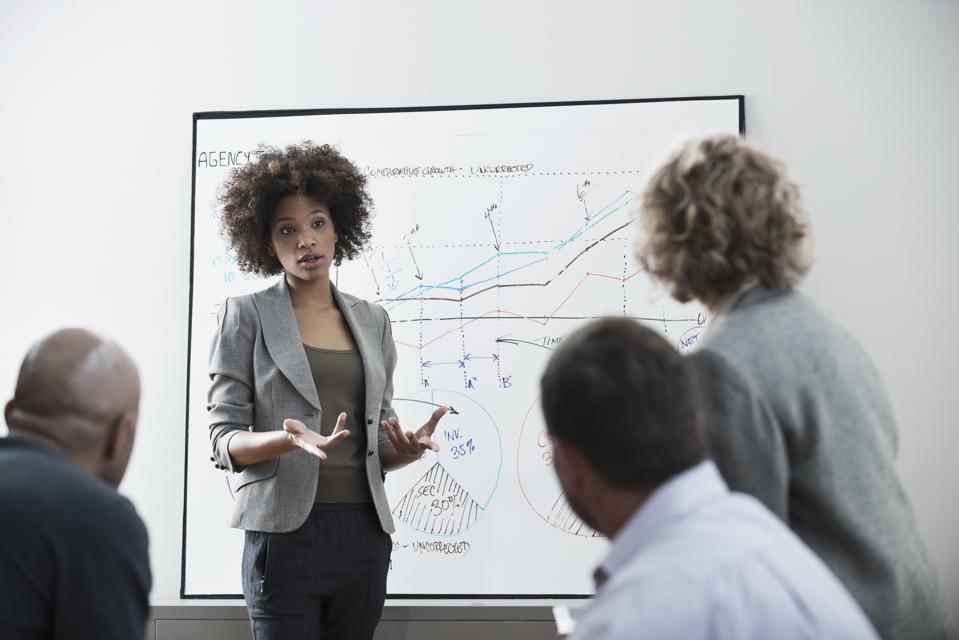 Businesswoman talking in meeting