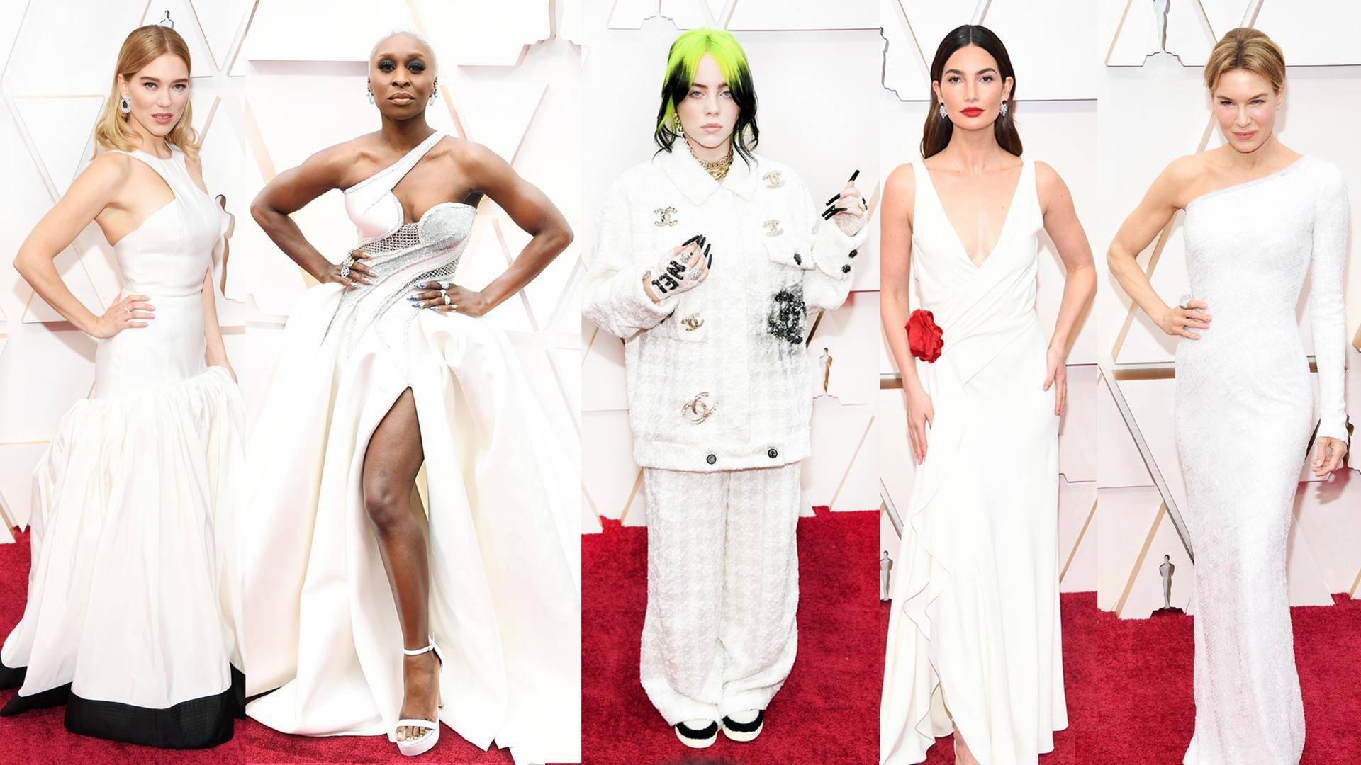 White Looks Oscars 2020 Red Carpet