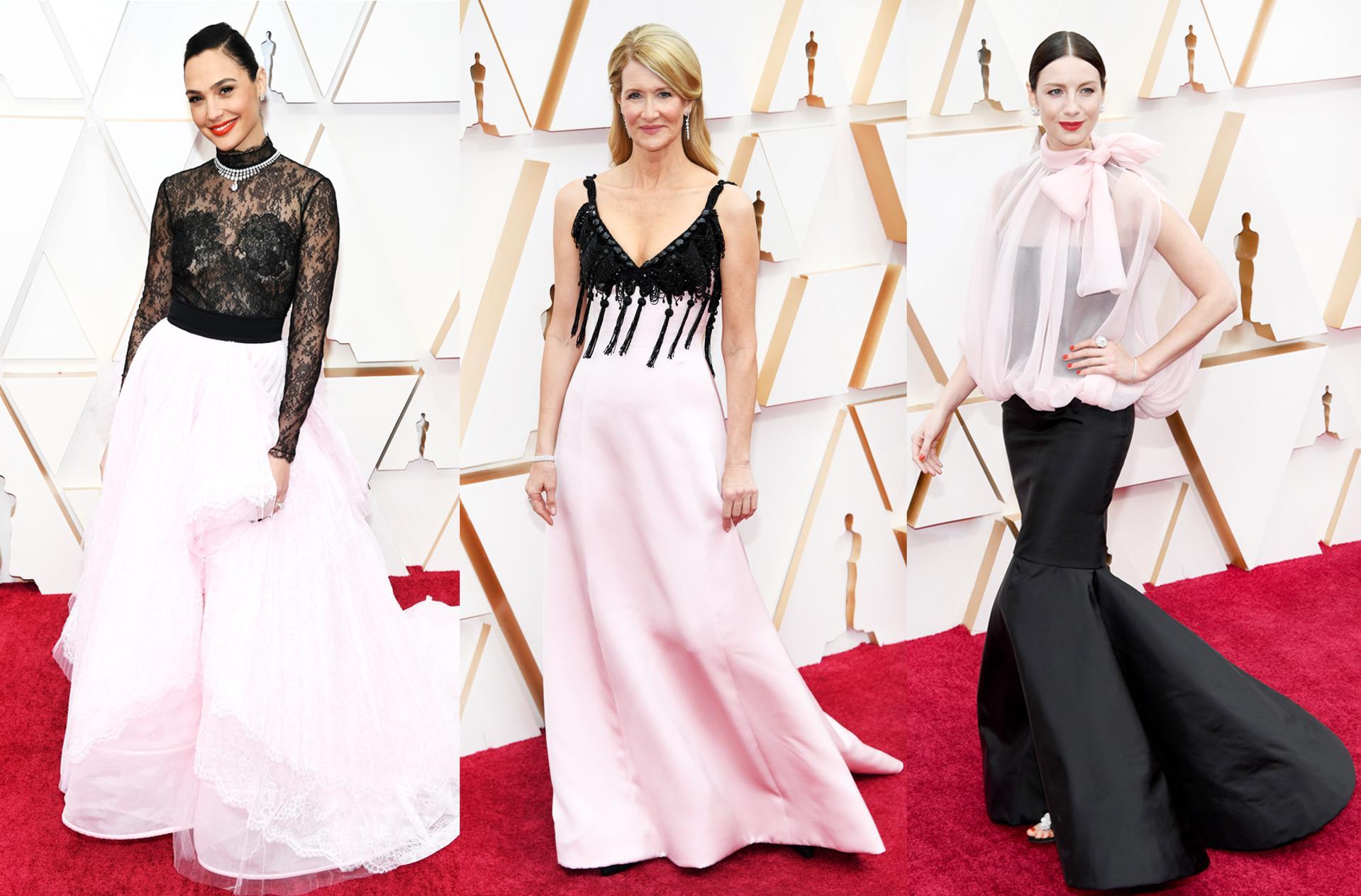 Pink and Black at Oscars 2020